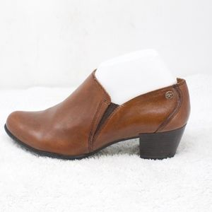 TAMARIS Brown Leather Heeled Shoes Size 41 US 9.5